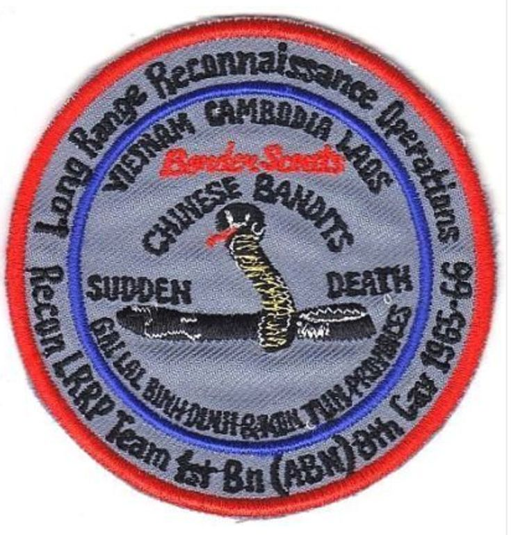 US Army 8th Cavalry Regiment 1st Bn LRRP Ranger Vietnam 1965 - 66 Chinese Bandit