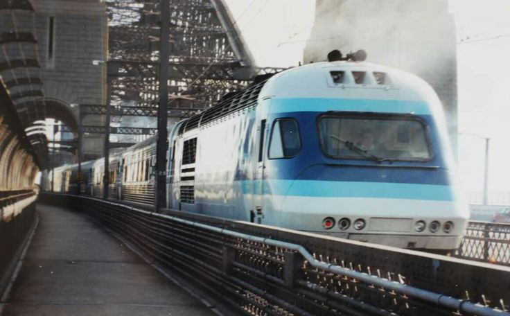 Countrylink Nsw Xpt Intercity Passenger Train Crossing The Sydney