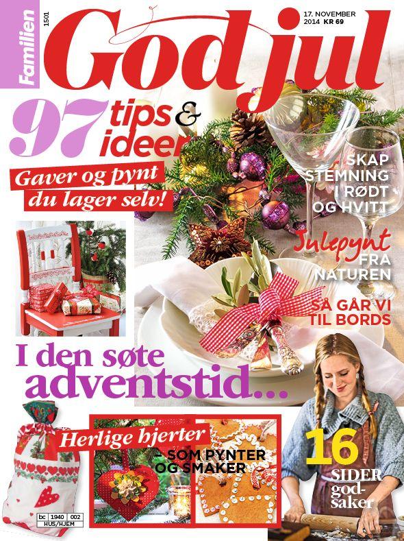 I salg 17. november God jul! 97 tips og ideer til gaver og pynt som du lager selv. Skap stemning i rødt og hvitt. Julepynt fra naturen. 16 sider med julebakst.