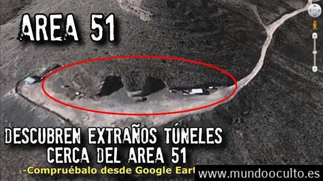 Revelan túneles muy sospechosos juntos al ÁREA 51 en Google Earth