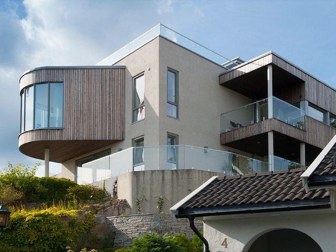 Terrasse - murhus - pusset fasade - Leca