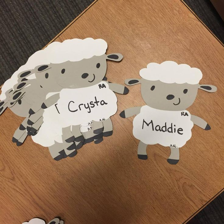 March Door Decs: Nap Themed (sheep) to match the nap bulletin board