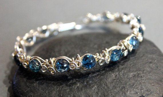 Twisted Vine Wire Wrapped Bracelet Tutorial Pattern. by Rubycurls