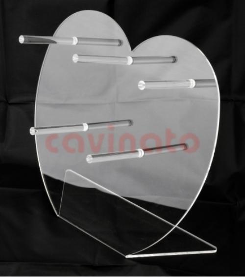 Espositore a forma di cuore in plexiglass - Lavorazione PLEXIGLASS Milano: Cavinato acrylics s.a.s. - Dal 1949 - Espositori in plexiglass, espositori da banco, da terra