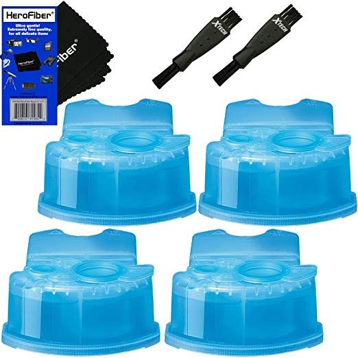 Braun Clean Renew Refill Cartridges Replacement Cleaner Cleaning Solution 4 Pack For Series 3 S Cleaning Solutions Gentle Cleaning Braun Clean And Renew