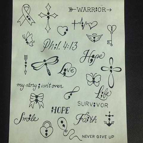 Ideas from a tattoo shop. Looks like they arent putting too much thought into the design but some have a good start