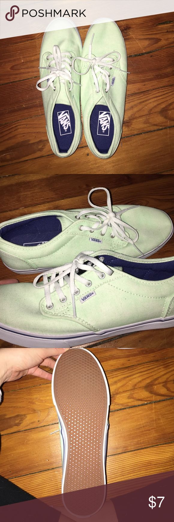 Mint Green Vans Mint green vans. Worn maybe once! Vans Shoes