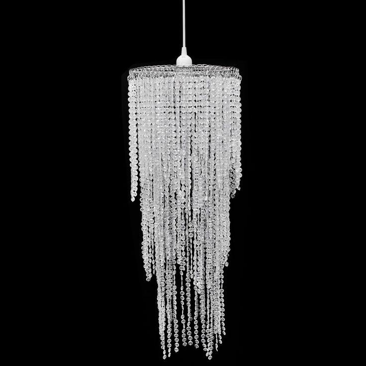 Lampadario 28,99 euro da Soffitto con Paralume Cristallo 26 x 70 cm