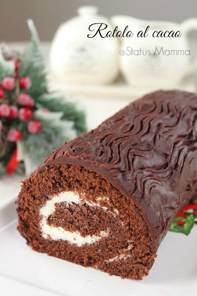 Rotolo al cacao ricetta dolce Natale cioccolato ganache dessert colazione merenda bambini semplice veloce Statusmamma blogGz Giallozafferano
