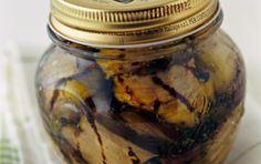 Μελιτζάνες σκορδάτες σε λαδόξιδο ... Garlic Eggplant in Vinaigrette