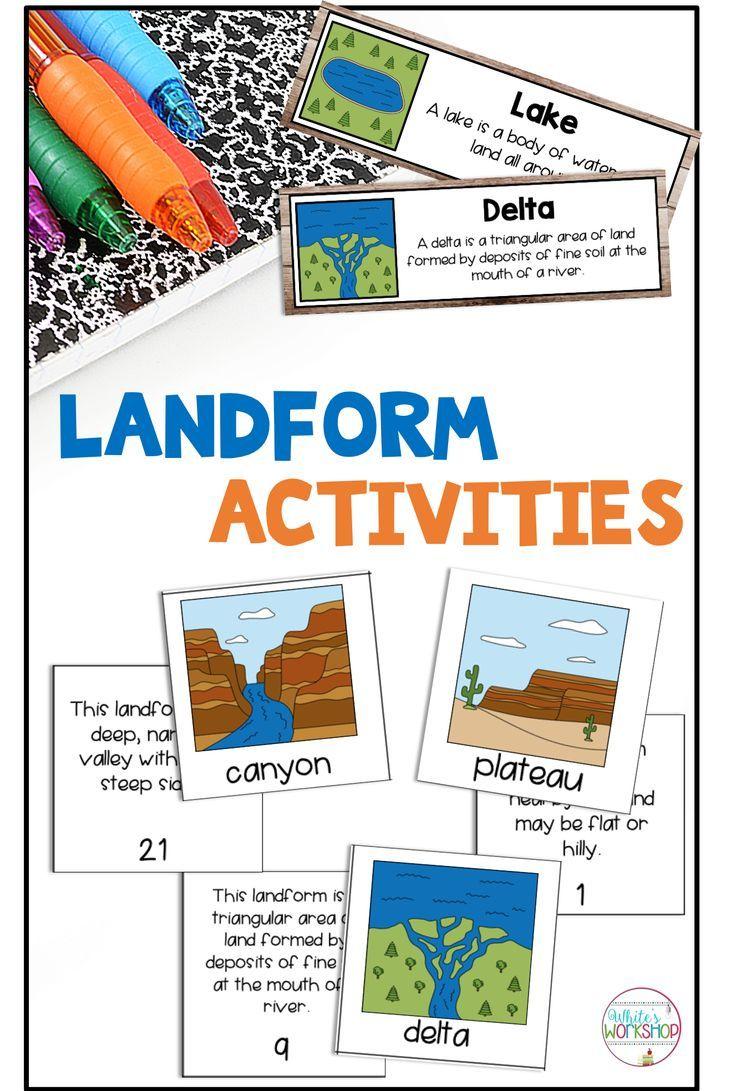 Landform Activities And Worksheets Landforms Worksheet 2nd Grade Worksheets Algebra Worksheets
