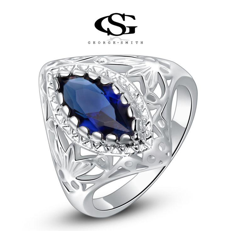 Luxe Statement Ring met Blauw Kattenoog 2