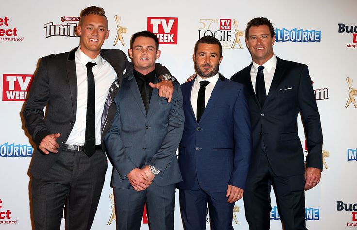 2015 Logies in pictures : The crew from 'Bondi Rescue'.