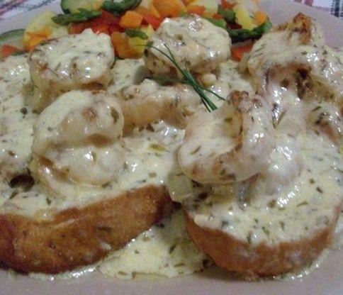 Whiskey Shrimp on Toast | Recipe | Toast, Steamed ...