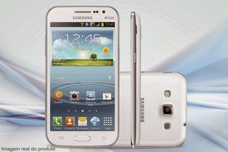 """Samsung Galaxy Win Duos, dual chip e com tela Full Touch 4.7"""", a partir de 12x sem juros de R$ 70 + frete grátis."""