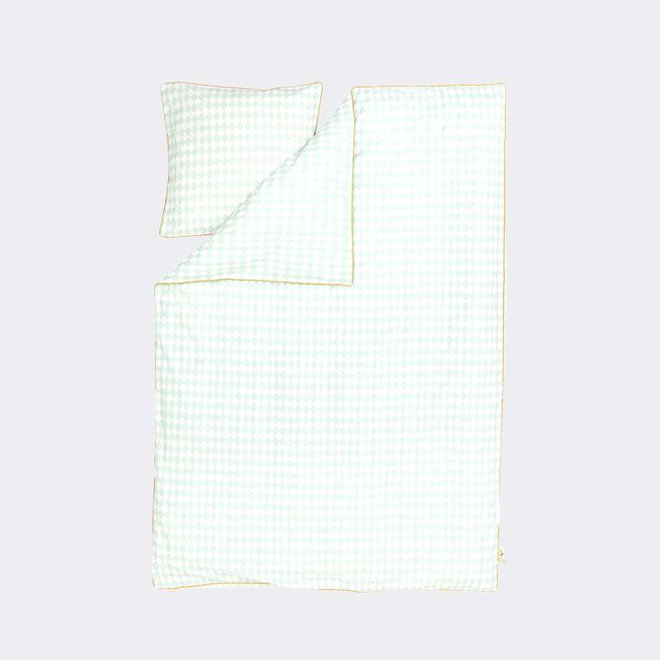 Adult Harlequin Bedding in Mint design by Ferm Living