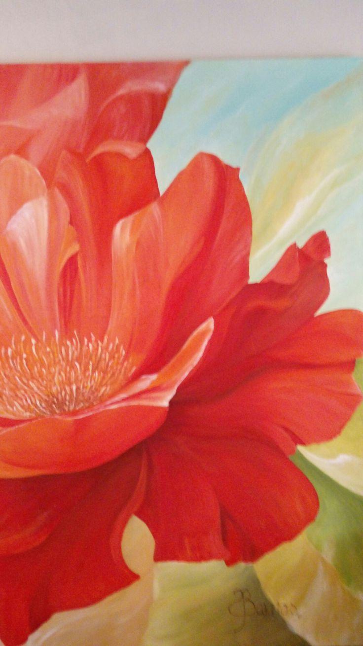 Flor Pintada al óleo. De 2.00 x 2.00mt Mural #artesupa #mural #óleo #flores