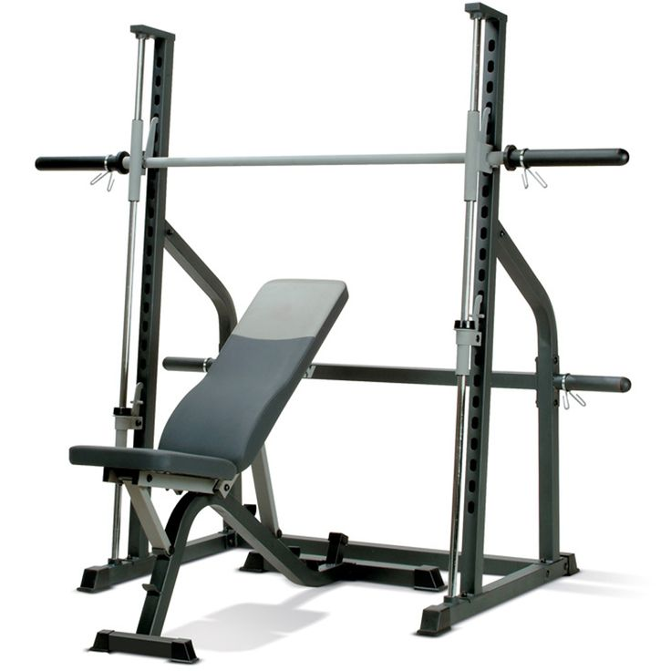 For safe weight training at home for the beginner the Marcy SM600 Smith Machine & Weight Bench is a great start with the super safe integrated smith press design with great user & weight loads up to 270kg still.