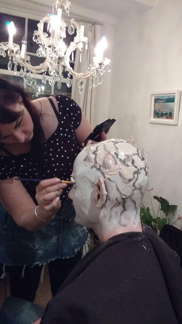 Make over factory at work Eva van de Horst   White walker party Cameron 3 d make up