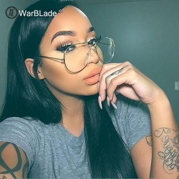 Gold Brillen klare Linse Frauen Vintage Retro Optische Rahmen Eye Glassesiehrb – Brillen 2019 Frauen