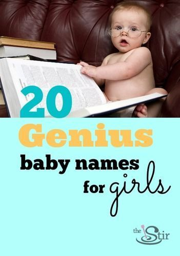 Such good, smart baby names for girls in here!