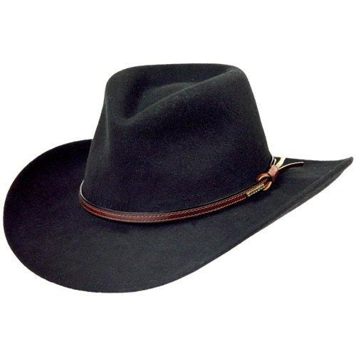 Stetson Bozeman Men's Crushable Wool Felt Hat (Black) Made in USA
