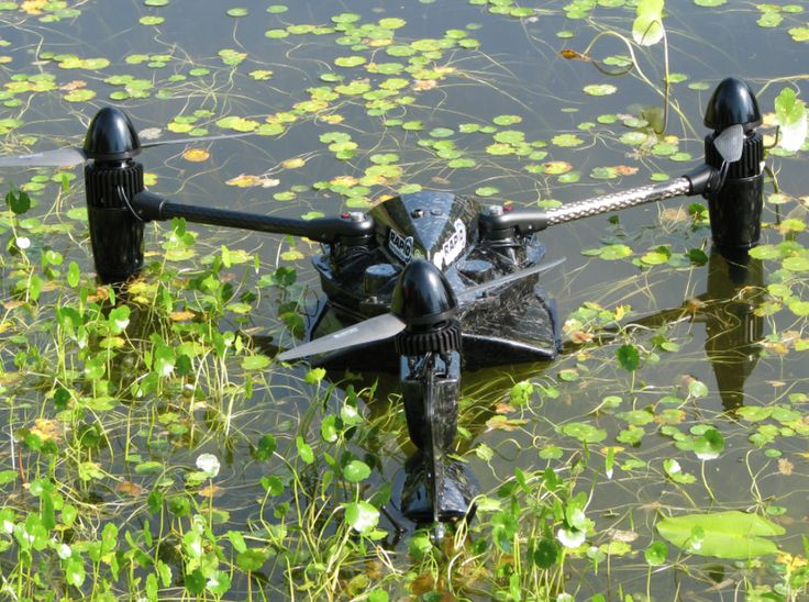 Amphibious, Lightweight VTOL UAV | Fully autonomous UAV with vertical water takeoff and landing. The system includes push button folding/unfolding booms for easy deployment and transport.