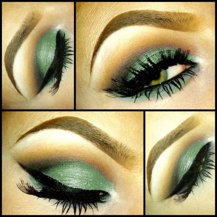 lovely green smokey eyes by my fave makeup artist: chrisspy makeup <3  @Christina Pippenger