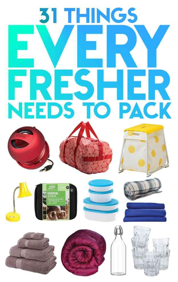 31 Essentials Every Fresher Needs To Pack this is so true!!!!