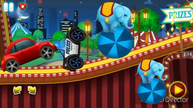 Racing Game For Kids - Police Car Chase With  Elephant - Fun Kids Ahihi