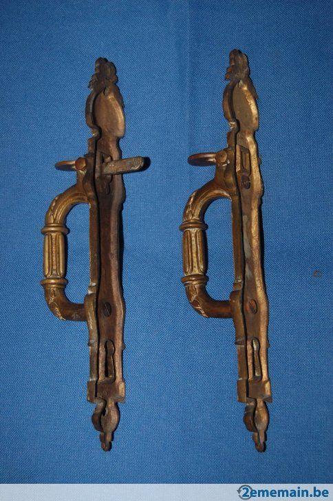 Resultado de imagen para Ancienne Poignée de porte - Clenche en cuivre ou laiton