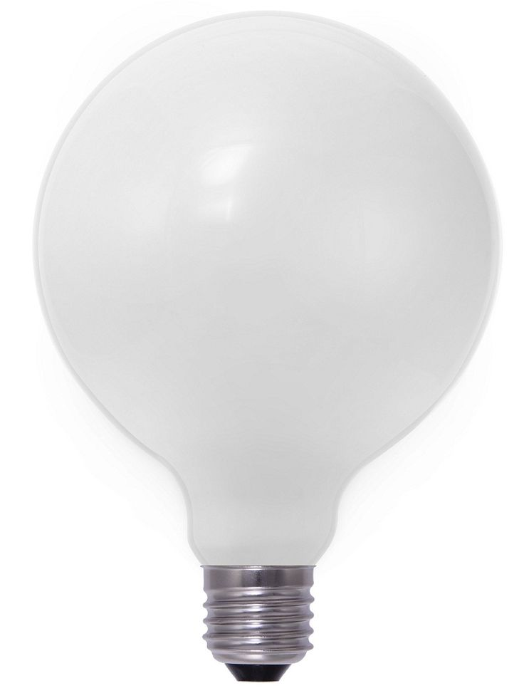 A part of the LiquidLEDs' LED filament range, the 8 Watt Opal G125 2600K LED Filament Globe (E27/Edison Screw Configuration) is an elegant lighting device specifically designed to bear a strong resemblance to the ordinary incandescent light bulb. Closer inspection, however, shows how different this seemingly typical E27-base type light bulb is.