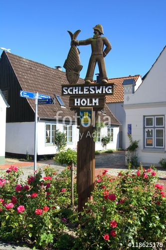 Schild zur Schleswiger Fischersiedlung Holm, Schleswig, Holmer, Fischer, Schleswig Holstein, Norddeutschland, - Fotolia - © SULUPRESS / Torsten Sukrow