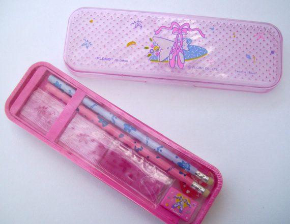 80s Flomo Pencil Case. Pink Balet Shoes. Ballerina by JirjiMirji, €52.00