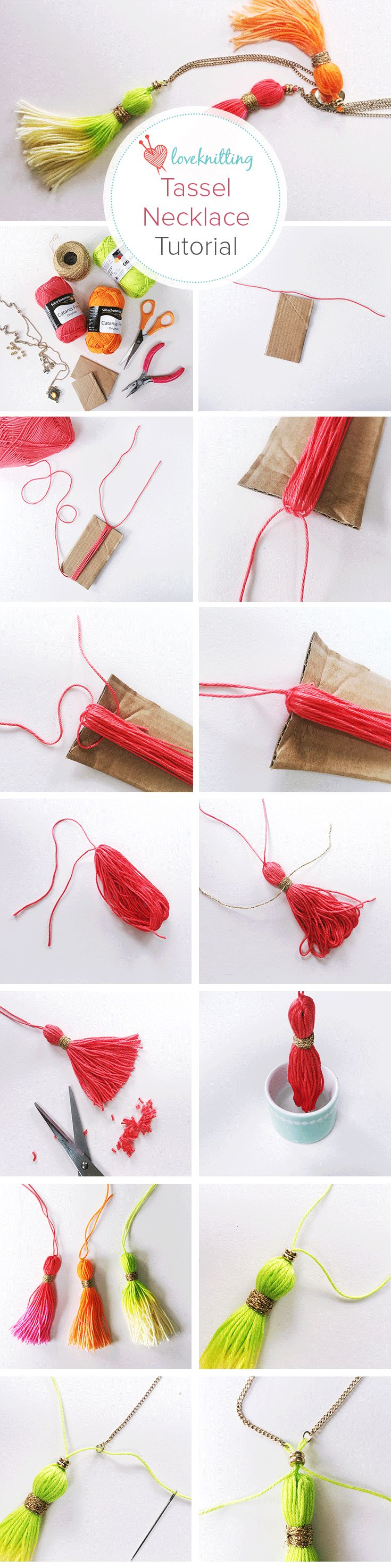 FREE tassle necklace tutorial from SewYeah up on our LoveKnitting blog!