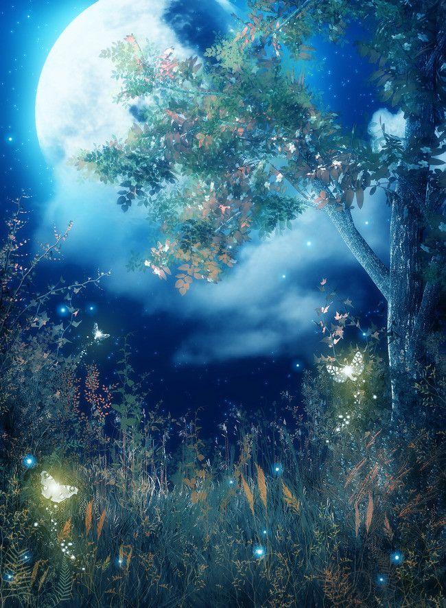 Magic Grimm Cartoon Background Fantasy Background Magic Background Forest Backdrops