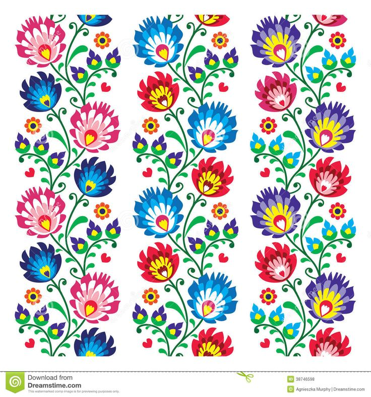 Seamless Traditional Folk Polish Pattern Seamless - Download From Over 43 Million High Quality Stock Photos, Images, Vectors. Sign up for FREE today. Image: 38746598