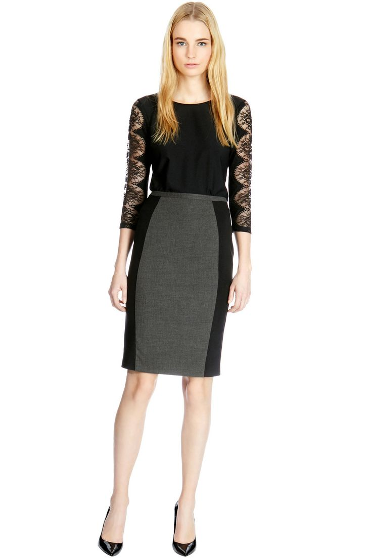 CONTOURED PANELLED SKIRT