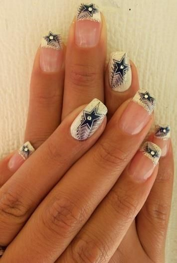 55 best dallas cowboys nail designs images on pinterest dallas dallas cowboys nail art prinsesfo Image collections
