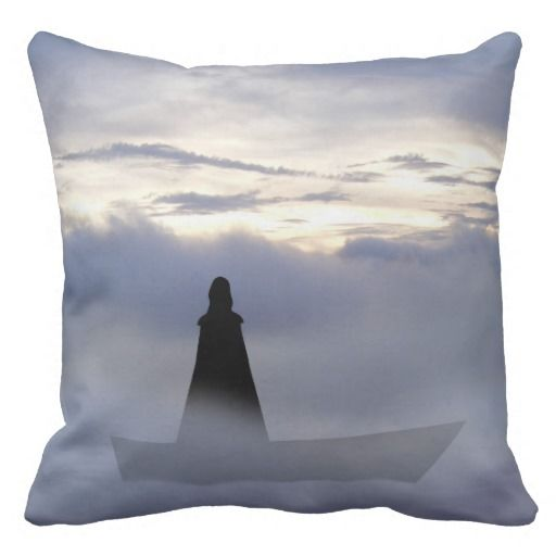 Lady of the lake cushion.  A Lady who had power over the elements through focusing the mind, shrouded in mystery and beauty.