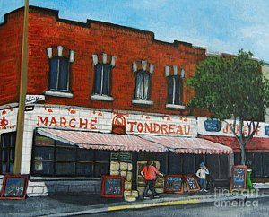Painting - Marche Tondreau Verdun by Reb Frost