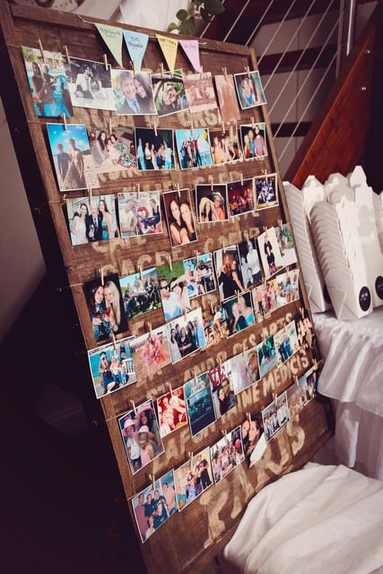 A board of all Ari photos with her invited friends (taken throughout the year) would be nice