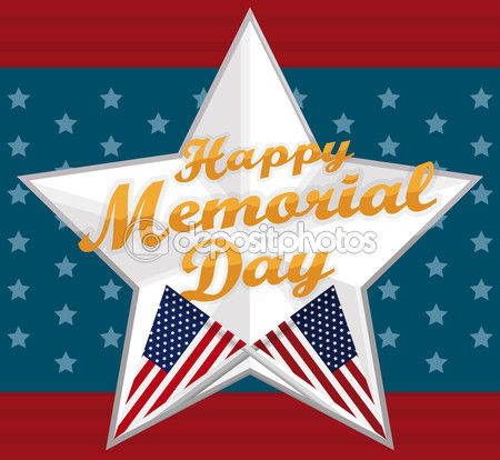 Poster with Silver Star for Memorial Day Celebration