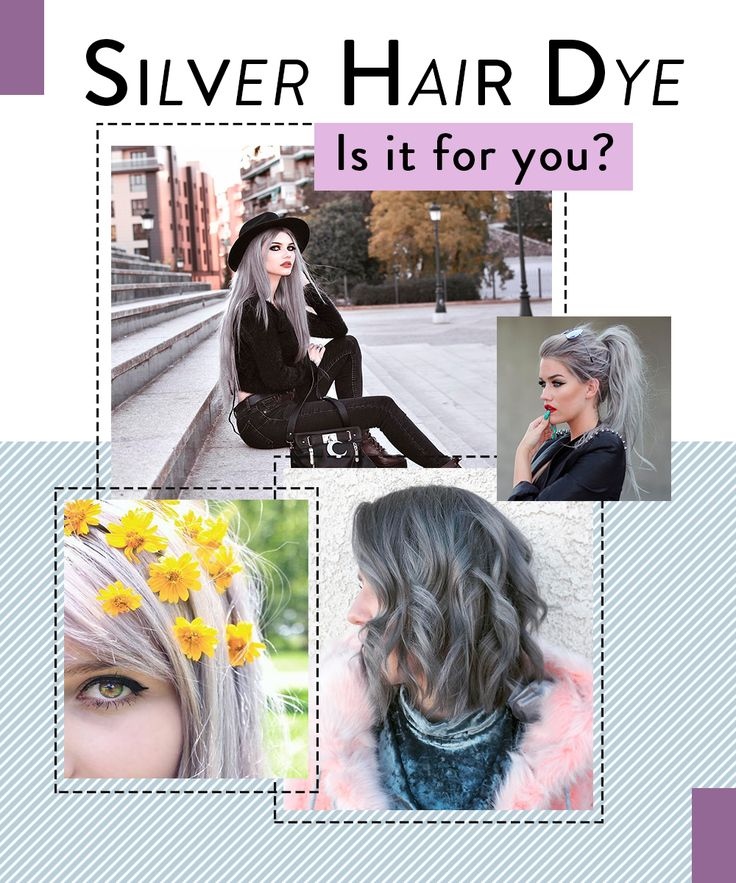Silver charcoal hair dye how to