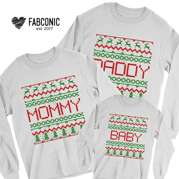 Mommy Daddy Baby Ugly Christmas Sweater Family Christmas