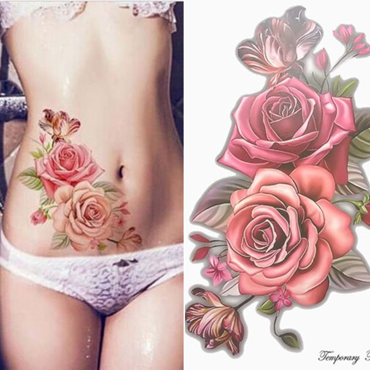 Details about 2018 Fake Temporary Tattoo Sticker Rose Flower Arm Body Waterproof Women   – Art