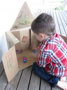 Cardboard Box House - for a simpler version...