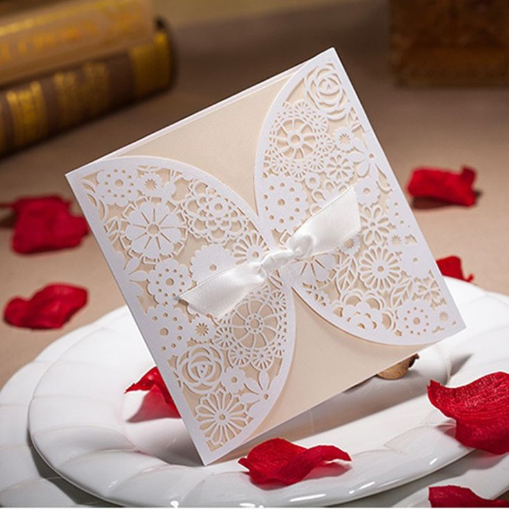 civil wedding invitation card%0A White Lace Laser Cut Wedding Invitation Cards With Envelops and Seals   Personalized insert cards   Sell set of