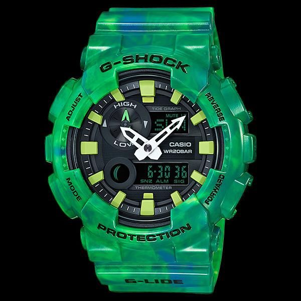 CASIO G-SHOCK G-LIDE MARBLE GREEN WATCH GAX100MB-3A