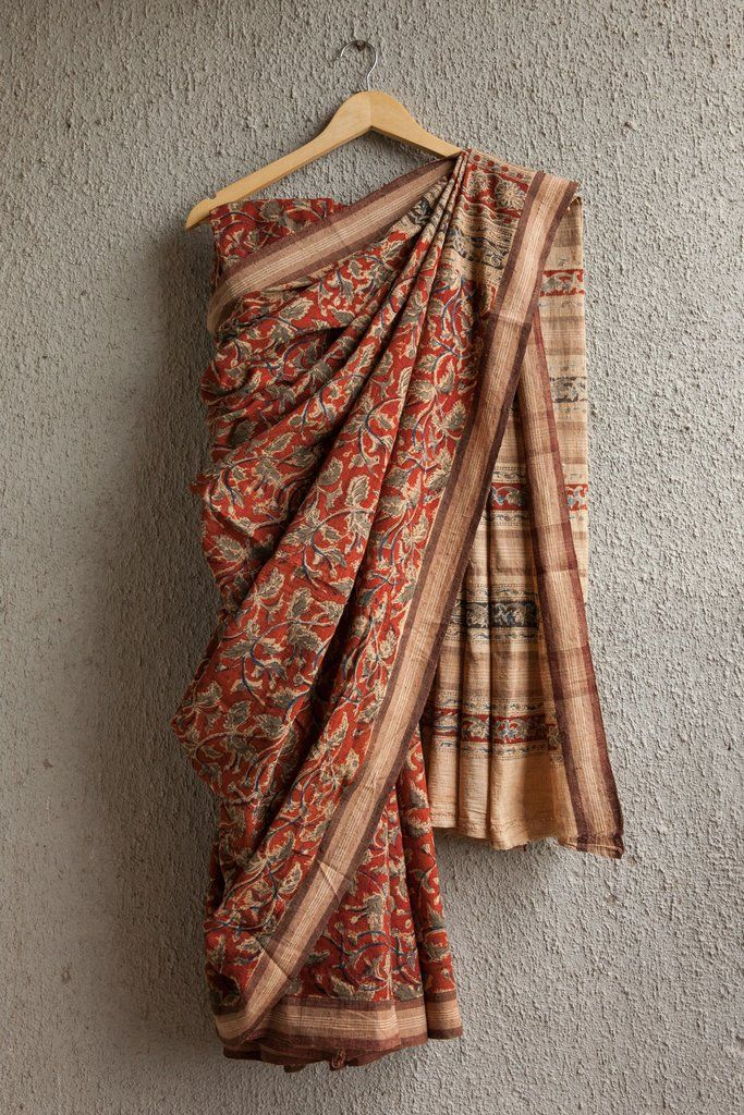 http://www.thecocompany.in/products/tridax-leaves-on-red-saree-with-brown-border